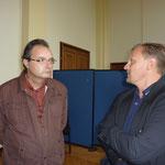 A gauche : Philippe BESSIERE, Historien - A droite : Philippe VITALE, Sociologue