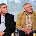 A gauche : Michel VERGNIER, Député-Maire de Guéret - A droite : Michel VILLARD, Marie de Sainte-Feyre