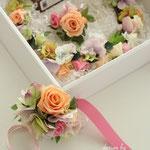 花冠とブートニア