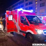 Eine Person musste mit einem Rettungswagen in ein Krankenhaus gebracht werden.|Foto: Christopher Sebastian Harms