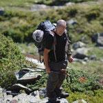 Gilles Pottier, l'accompagnateur du groupe, spécialiste du lézard des Pyrénées
