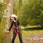 Laure, comédienne des Tas de Nature, pour le spectacle Histo'arbre