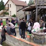 Le repas partagé au Moulin de Lespielle