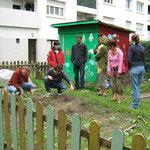 Formation au jardinage écologique avec un gouep d'animateurs en ACM