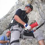Einstieg in den Klettersteig