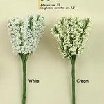 12 pz gipsophila bianca e panna
