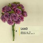 12 fiori rustici lilla