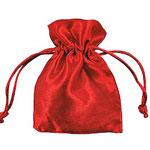 sacchetto in taftà rosso interno in raso € 1,20 senza confetti