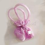 sacchetto borsina con manici, color lilla € 2,00