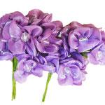 6 fiori lilla con perla