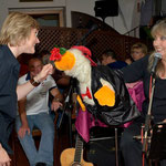 "Showeinlage mit ""Egon"", the singing duck"