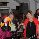 Showeinlage mit Egon, the Singing Duck