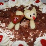 Torte mit Handicapkatze
