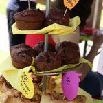 Saftige Schoko-Bananen-Muffins und Apfel-Marzipan-Taschen