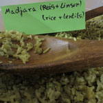 eine Spezialität aus Israel: Madjara (Reis und Linsen)