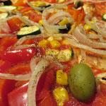 der Klassiker Pizza Vegetaria, ohne Käse