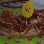 Unser Klassiker: veganes Mett auf Baguette