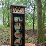 Sie entdeckten ein Freiluft-Klassenzimmer und einen Offenen Bücherschrank mitten im Wald ...