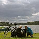 Rast bei unserer großen Radtour :)