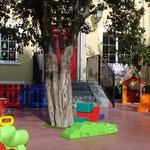 Centro Infantil Virgen de Montserrat. Guardería en Granada. Detalle de la entrada.