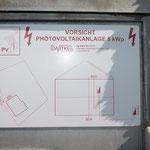 Photovoltaik Hinweisschild aus 2-schicht Laminat