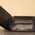 Leder Brieftasche mit Lasergravur