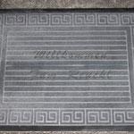 Fußmatte mit Lasergravur