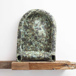 """in the mirror /  2017 /W38×D10×H50㎝/陶土 ,釉薬,木(earthenware,glaze,wood )/酸化焼成(high firng)    from exhibition"""" rithome""""    photo by Takeru Koroda"""