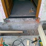 Haustureneinbau an Haus mit Vollwärmeschutz