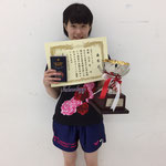 女子シングルス優勝 高原舞選手(高知工科大学)