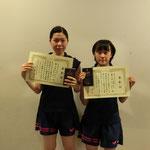 女子ダブルス3位:江口・渡邊(高知工科大学)