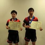 男子ダブルス準優勝:石田・佐藤(新潟大学)