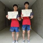 男子ダブルス3位 多田・伊藤組(京都大学)