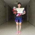 女子シングルス優勝 児玉選手(高知工科大学)