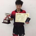 男子シングルス優勝 佐藤選手(新潟大学)