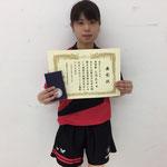 女子シングルス準優勝 大場選手(新潟大学)