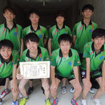 男子団体3位 北海道大学
