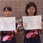 女子ダブルス優勝 松山・福島組(高知工科大学)