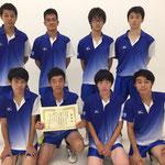 男子団体3位 大阪大学