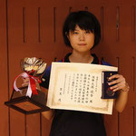 女子シングルス優勝:大場選手(新潟大学)