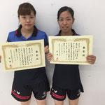 女子ダブルス3位 水野・石川組(新潟大学)
