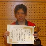 女子シングルス優勝 高橋選手(新潟大学)