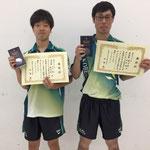 男子ダブルス準優勝 田中・藤沼組(神戸大学)