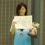 女子シングルス優勝 福島選手(高知工科大学)