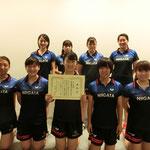 女子団体A準優勝:新潟大学
