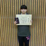 女子シングルス3位:河渕(高知工科大学)