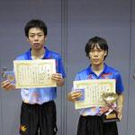 男子ダブル優勝 荒木・藤田組(広島大学)
