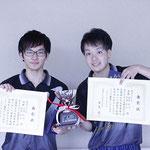 男子ダブルス優勝:田島・福田組(高知工科大学)