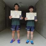 男子ダブルス準優勝 山本・南組(高知工科大学)