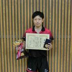 男子シングルス優勝:佐藤(新潟大学)